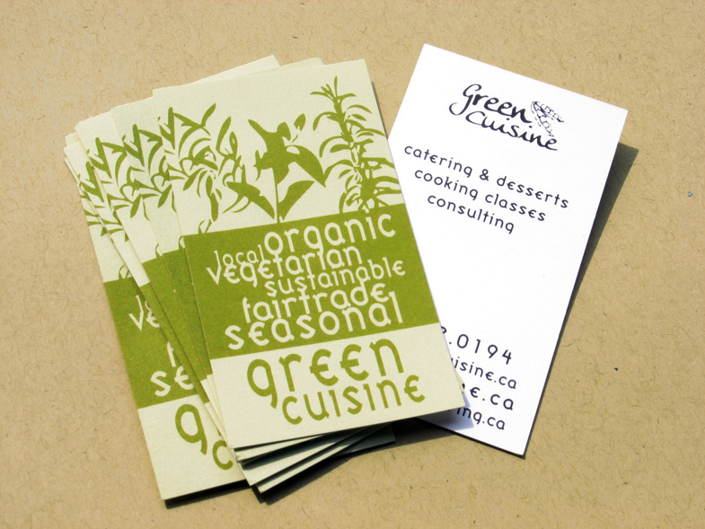 Business cards green cuisine ander swiftander swift business cards for catering business green cuisine colourmoves